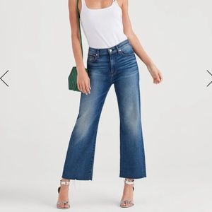 Luxe Vintage Cropped Alexa With Cut Off Hem in Fem